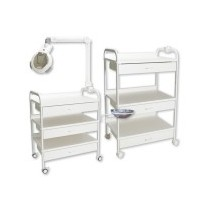 Massage table carts