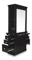 Black styling stations